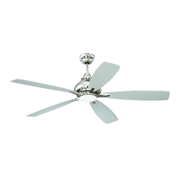 Swyft Polished Nickel Ceiling Fan with LED Light, image 1
