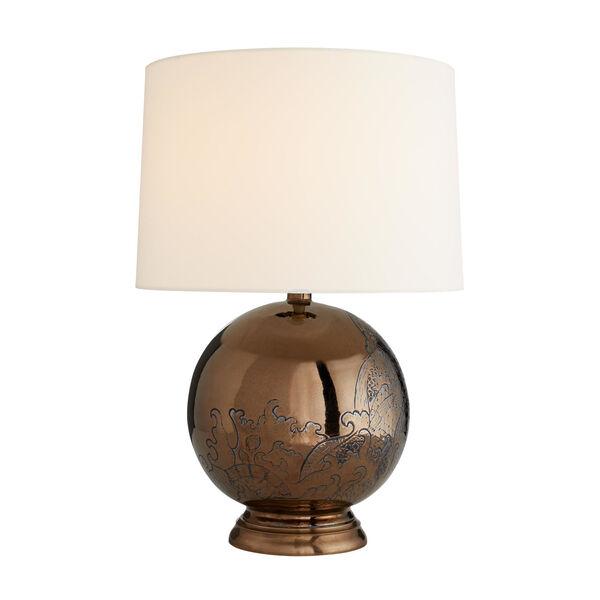 Frank Ponterio Bronze One-Light Flint Lamp, image 2
