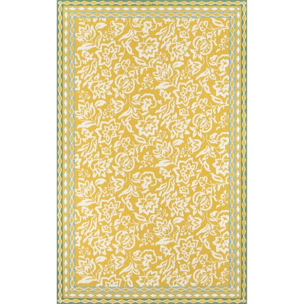 Rokeby Road Yellow Indoor/Outdoor Rug, image 1