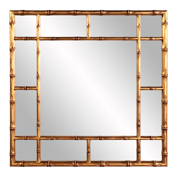 Country Gold Bamboo Mirror, image 1