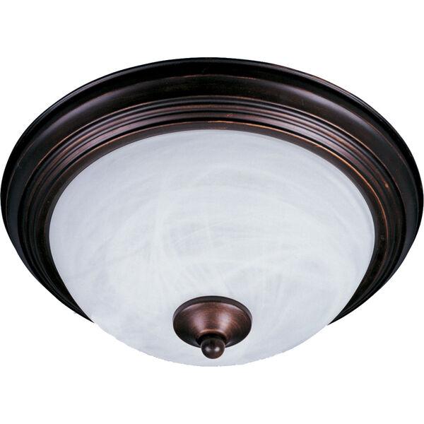 Essentials Oil Rubbed Bronze Two-Light Flush Mount, image 1