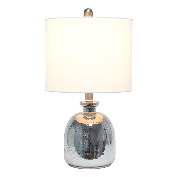 Cerise Metallic Gray White One-Light Table Lamp, image 2