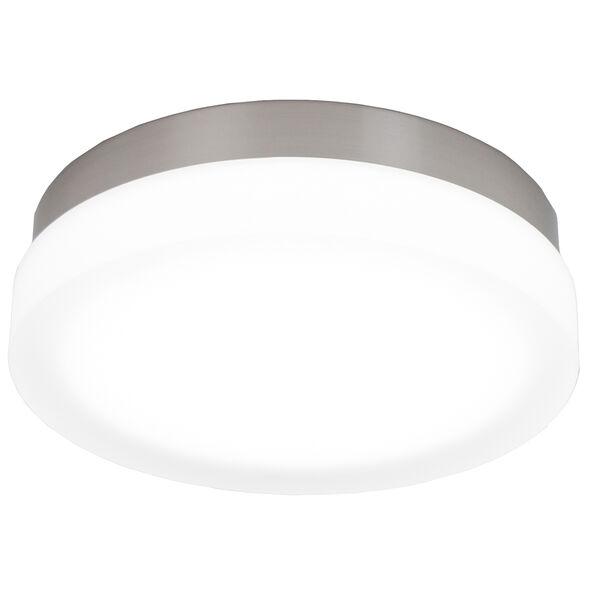 Slice Brushed Nickel 11-Inch LED Flush Mount with 3000K Soft White, image 1