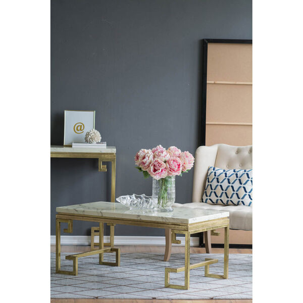 Phoenician Nights Gold and White Coffee Table, image 2