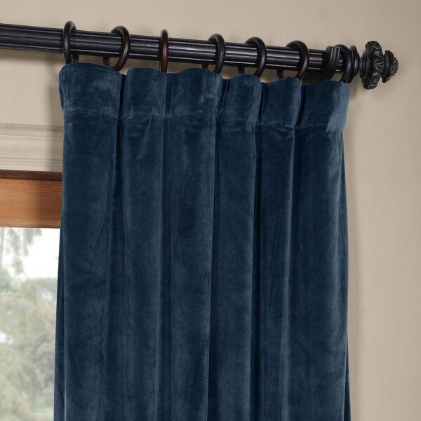 Blue 108 x 50 In. Plush Velvet Curtain Single Panel, image 2