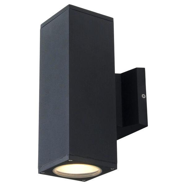 Summerside Matte Black 10.5-Inch Two-Light Outdoor Sconce, image 1