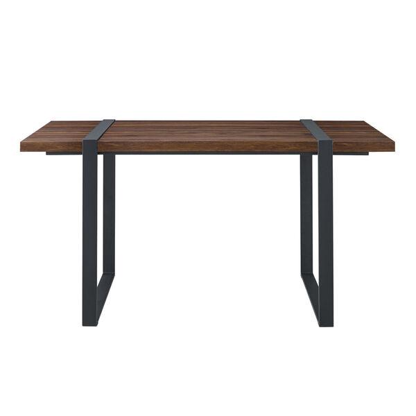 Urban Blend Dark Walnut and Black Dining Table, image 3