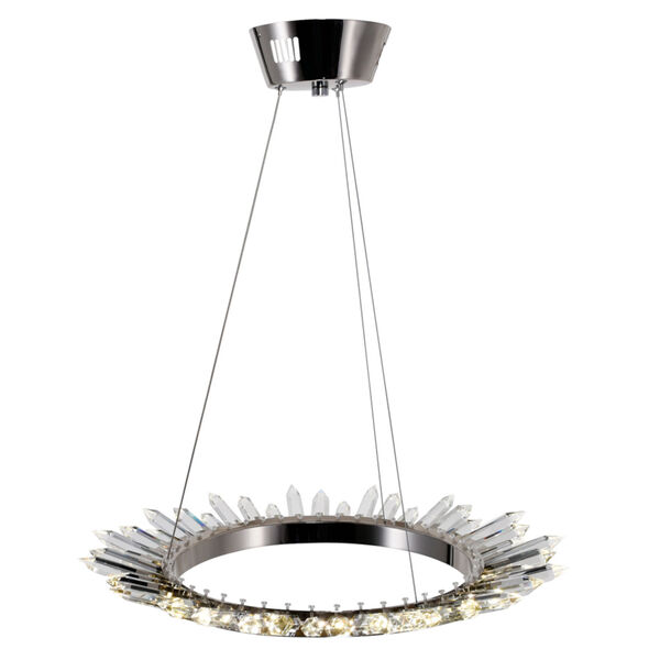 Arctic Queen Polished Nickel 24-Inch LED Chandelier, image 2