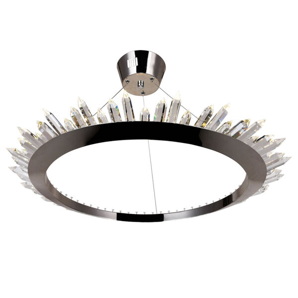Arctic Queen Polished Nickel 32-Inch LED Chandelier, image 2