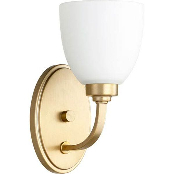 Mansfield Aged Brass One-Light Wall Sconce, image 1