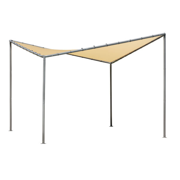 Del Ray Tan 10 x 10 Feet Canopy with Tan Cover, image 1