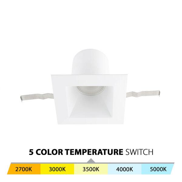 Blaze White LED Square Recessed Light Kit, image 3