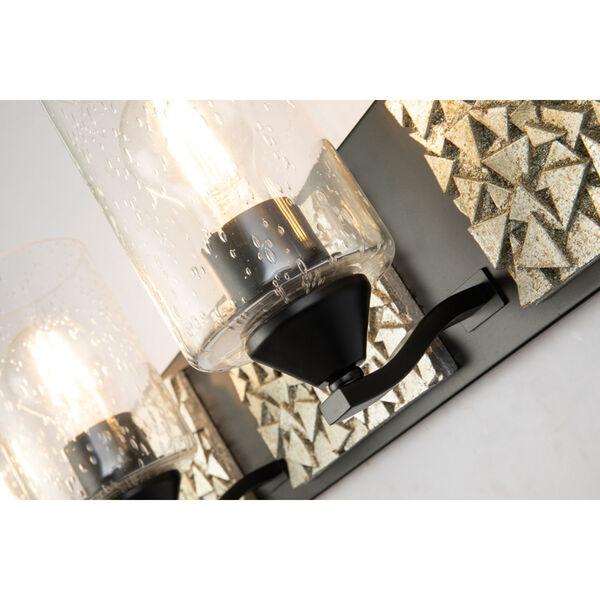 Bocage Matte Black Silver Four-Light Bath Vanity, image 5