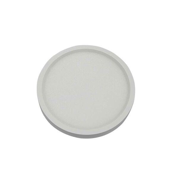 White 7-Inch 3000K LED Recessed Disk Light, image 1