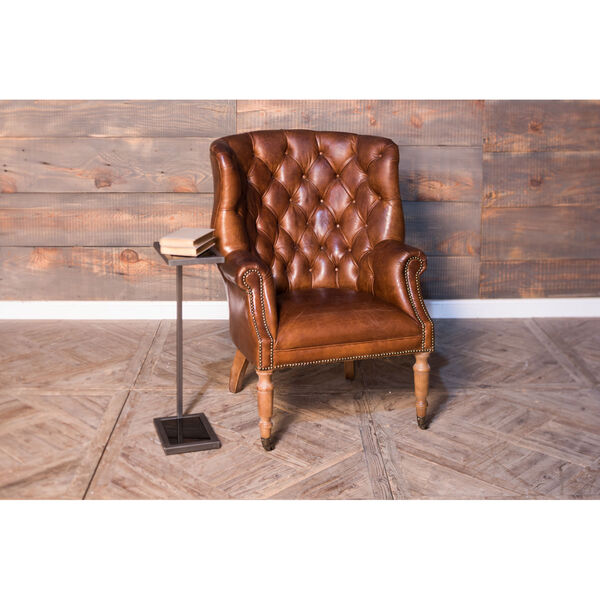 Brown Welsh Leather Chair, image 5