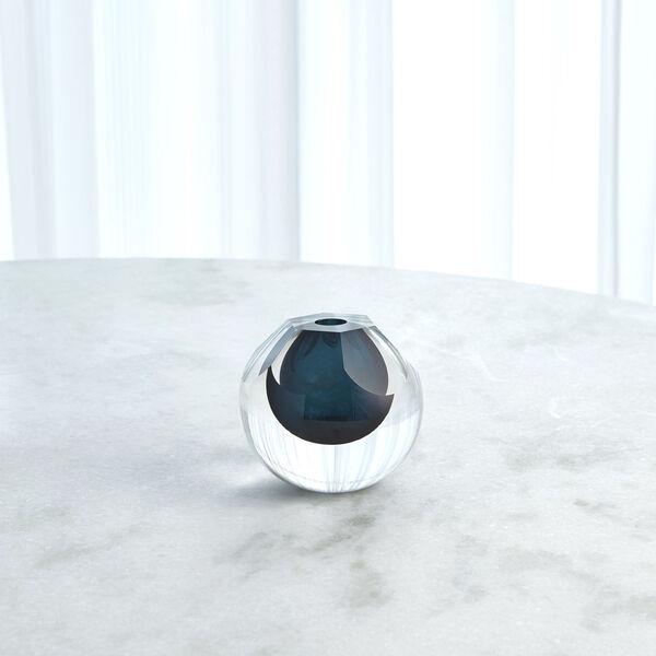 Studio A Home Azure Hexagon Cut Glass Vase, image 3