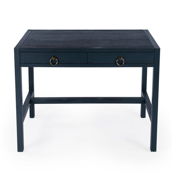 Lark Blue Desk with Two Drawers, image 3