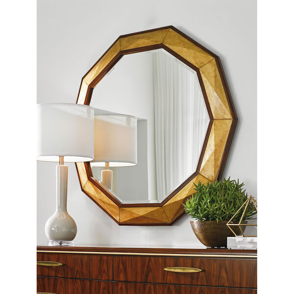 Take Five Brown Savoy Round Mirror, image 2