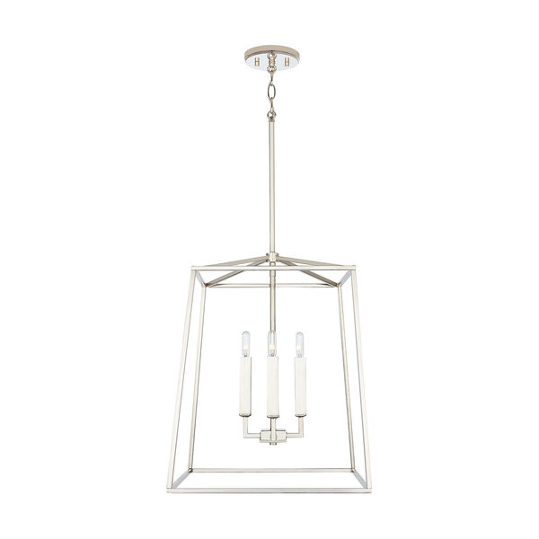 Thea Polished Nickel 71-Inch Four-Light Foyer Pendant, image 2