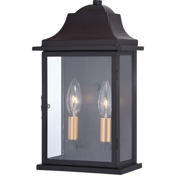 Bristol Oil Burnished Bronze and Light Gold Two-Light Outdoor Wall Sconce, image 1