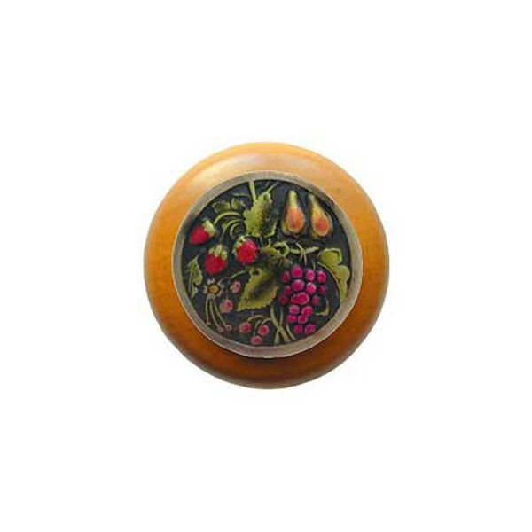 Maple Tuscan Bounty Knob with Brass, image 1