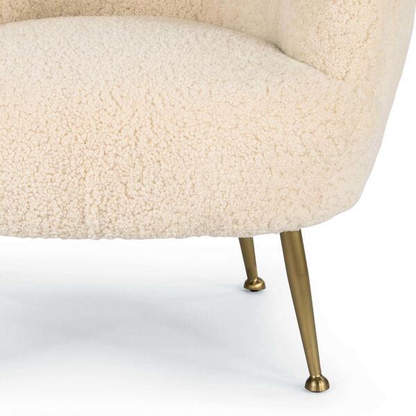 Beretta White Sheepskin Chair, image 4