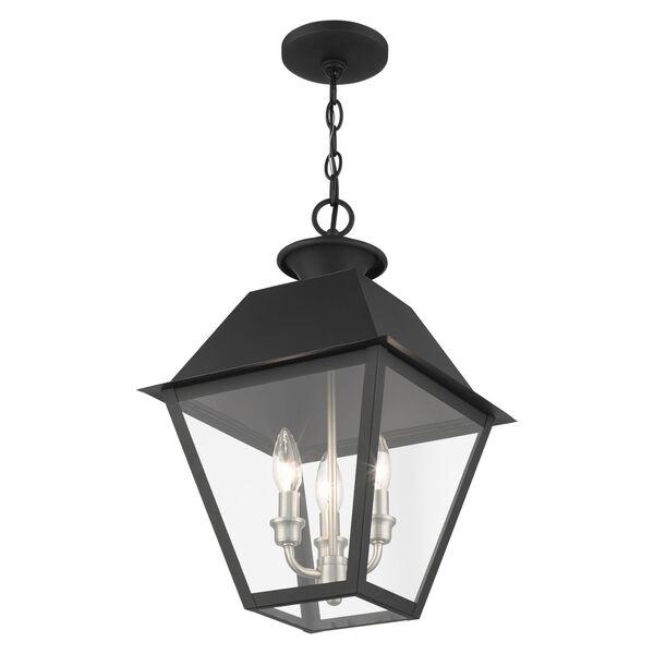 Mansfield Black Three-Light Outdoor Pendant Lantern, image 5