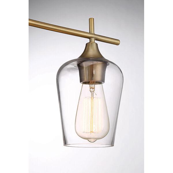 Octav Warm Brass 21-Inch Three-Light Bath Vanity, image 4