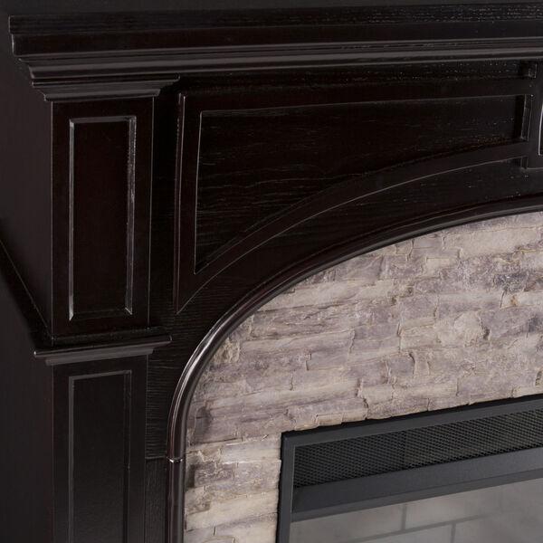 Tanaya Ebony Electric Fireplace with Faux Stone, image 3