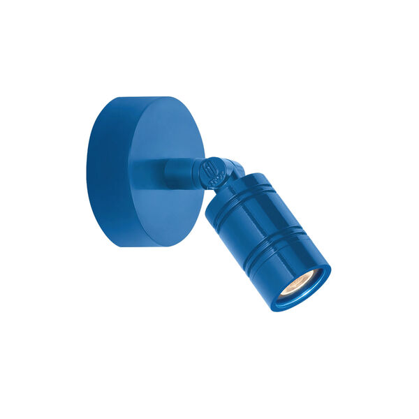 Bullet Head Blue LED Outdoor Monopoint Wall Sconce, image 1