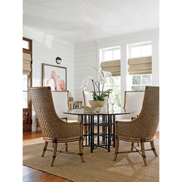 Twin Palms Brown and White Balfour Host Chair, image 3