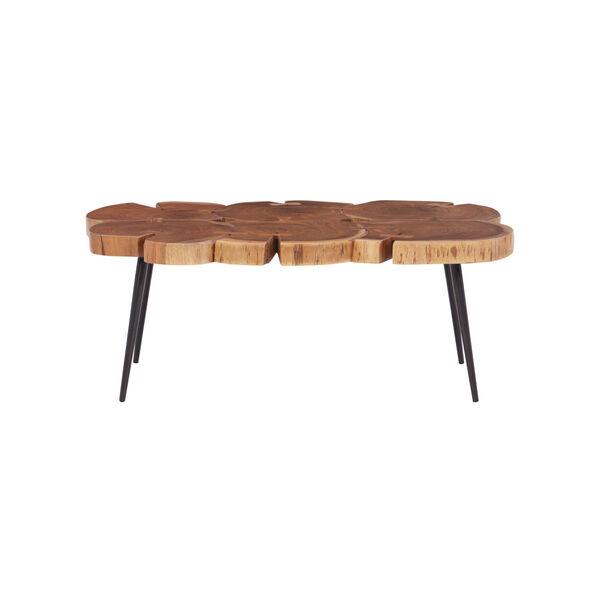 Aurelio Brown and Black Live Edge Large Coffee Table, image 2