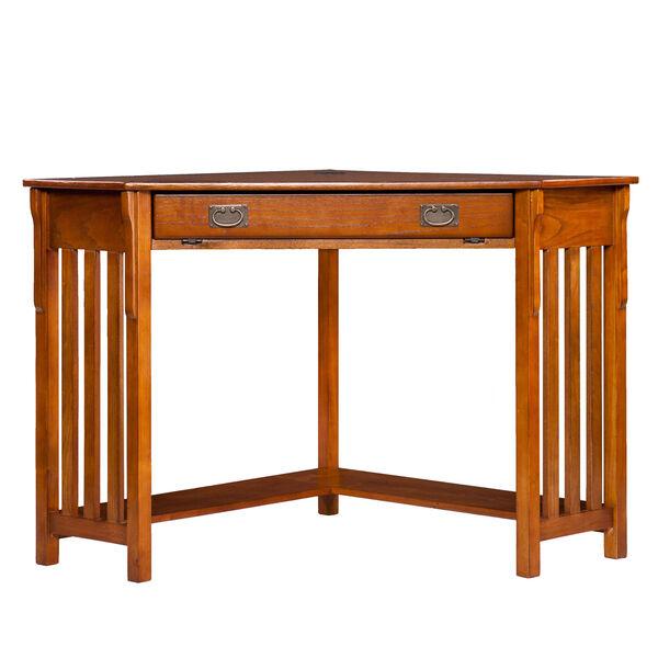 Oak Corner Computer Desk, image 4