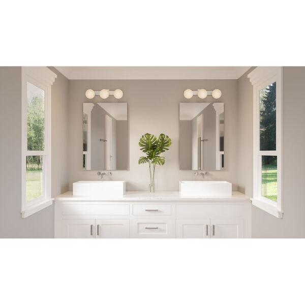 Clements Brushed Nickel Three-Light Bath Vanity, image 2