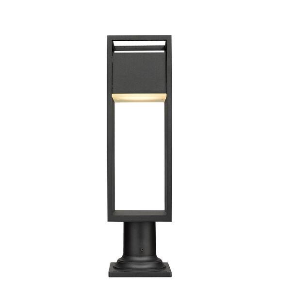 Barwick Black 23-Inch One-Light LED Outdoor Pier Mount, image 4