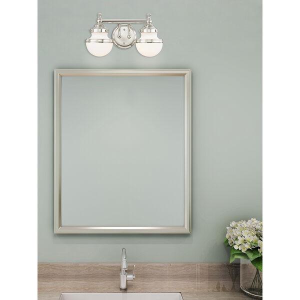Oldwick Polished Chrome Two-Light 15-Inch Bath Vanity, image 7