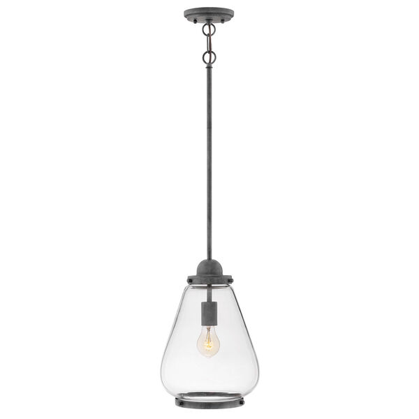 Finley Aged Zinc One-Light Outdoor Pendant, image 1