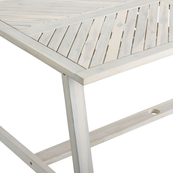 Vincent White Wash Outdoor Dining Table, image 5