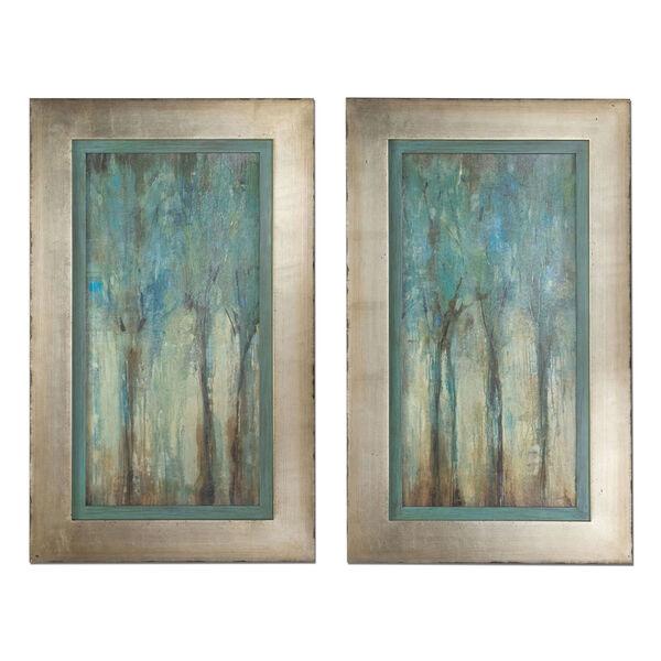 Whispering Wind Aqua Blue Framed Art, Set of 2, image 2
