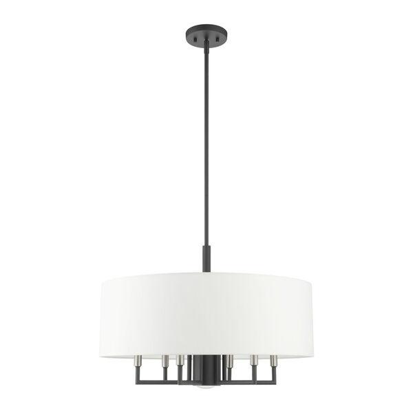 Meridian Scandinavian Gray Seven-Light Chandelier, image 2
