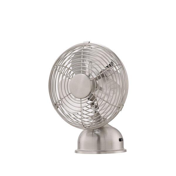Junior Breeze Brushed Nickel 5-Inch Portable Fan, image 1