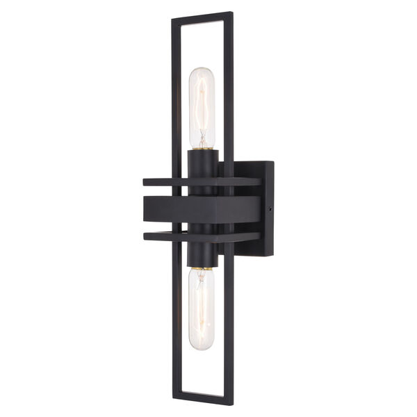 Marquis Matte Black Two-Light Wall Sconce, image 1