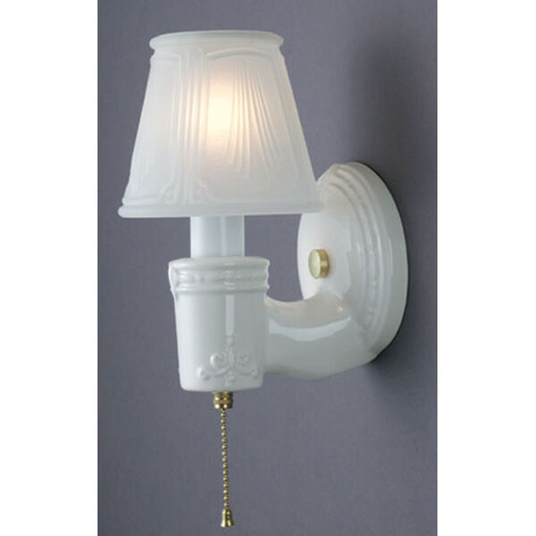 Vintage Round Wall Sconce, image 1
