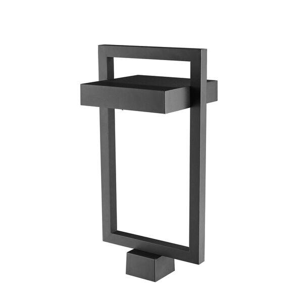 Luttrel Black LED Outdoor Post Mount, image 3