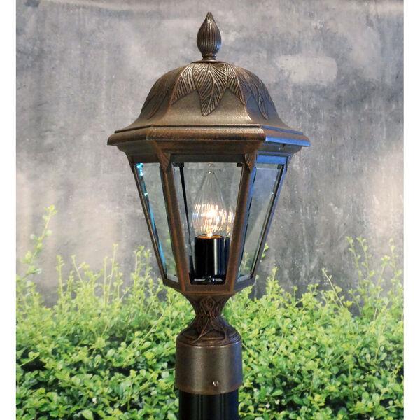 Floral Copper Medium Post Mount Light, image 2