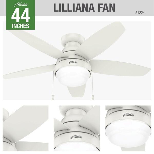 Lilliana Fresh White 44-Inch Two-Light LED Ceiling Fan, image 3