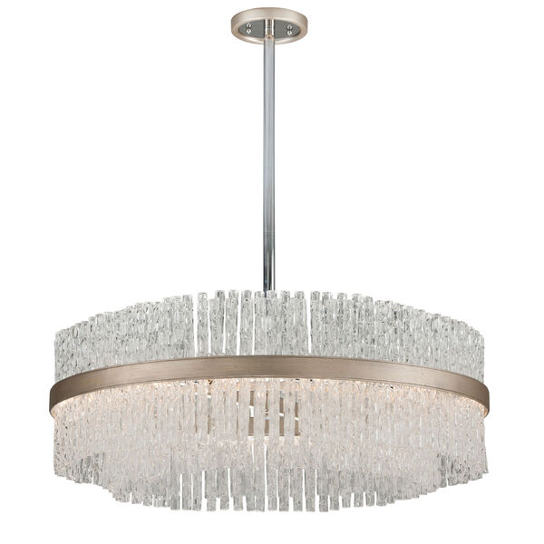 Chime Silver Leaf 36-Inch Eight-Light  Pendant, image 1