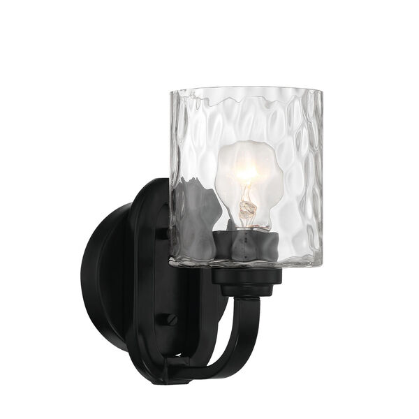 Collins Flat Black One-Light Wall Sconce, image 2