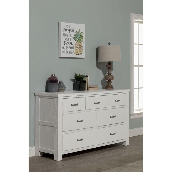 Highlands White 7 Drawer Dresser, image 1