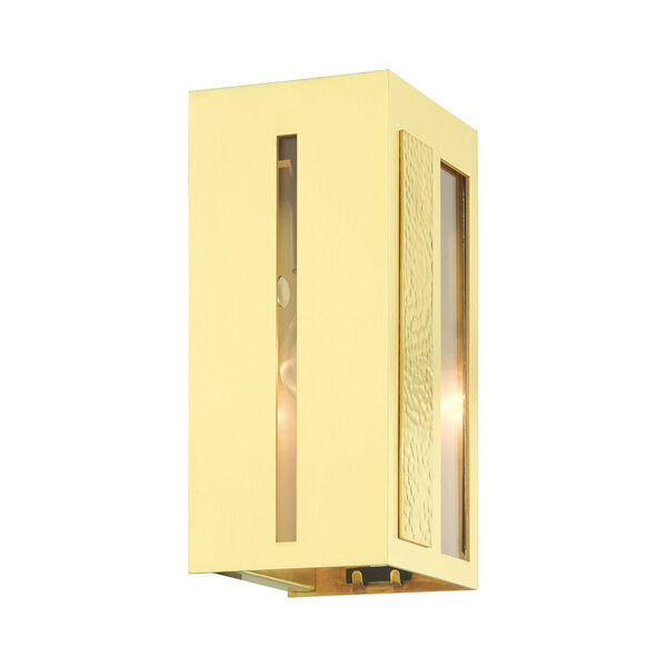 Lafayette Satin Brass Five-Inch One-Light Outdoor ADA Wall Sconce, image 5